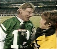 joe namath trying to kiss suzy kolber
