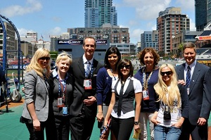 missy moore and the channel4 padres sports team